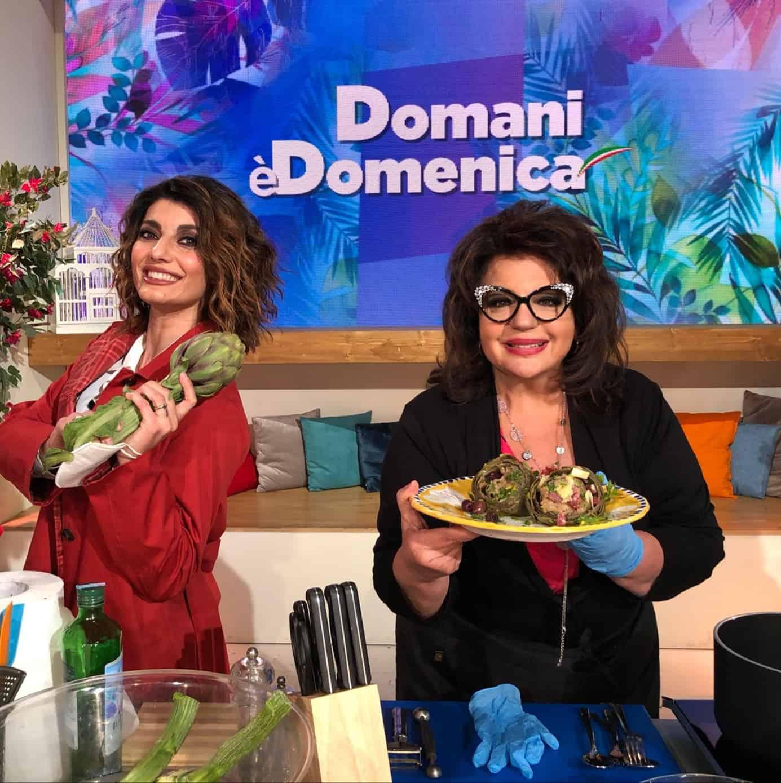 Da Domani è domenica la ricetta dei carciofi ripieni di Angelica Sepe