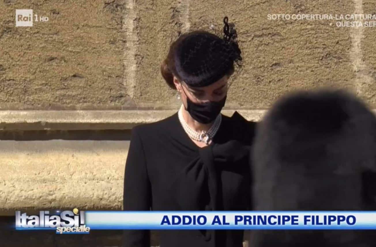 L'omaggio di Kate Middleton a Lady Diana nel giorno del funerale di Filippo