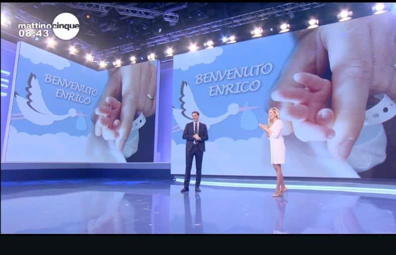 Benvenuto Enrico: gli auguri per Francesco Vecchi papà da Federica e Mattino 5