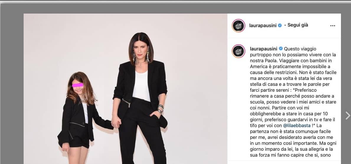 Laura Pausini in volo per Los Angeles, un viaggio importante senza la figlia