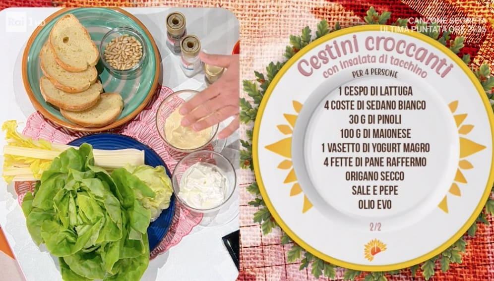 Cestini croccanti con insalata di tacchino, la ricetta di Daniele Persegani