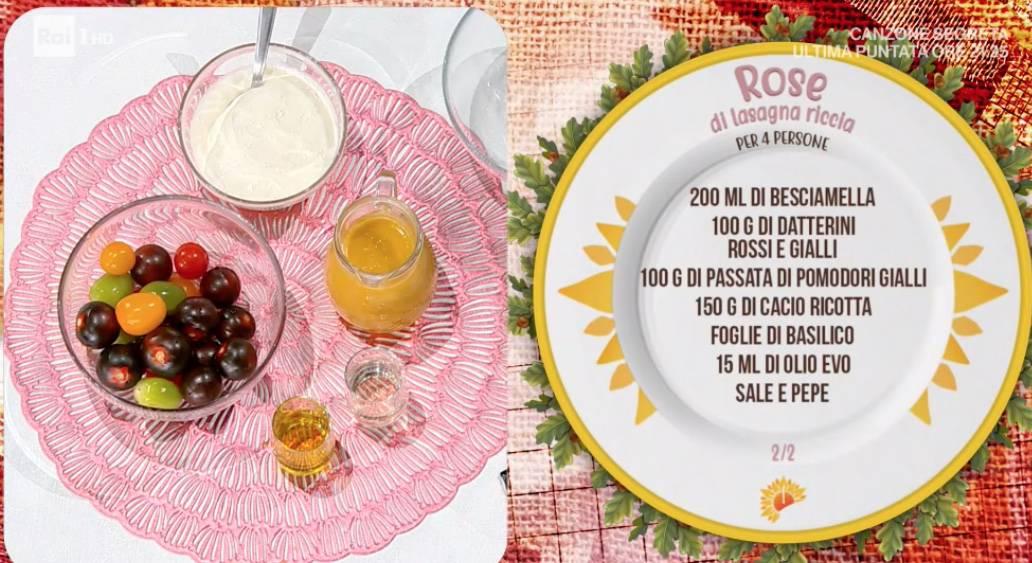 Rose di lasagna riccia, la ricetta di Antonella Ricci