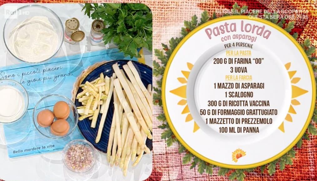 Pasta lorda ripiena con ricotta e asparagi, ricetta di Zia Cri