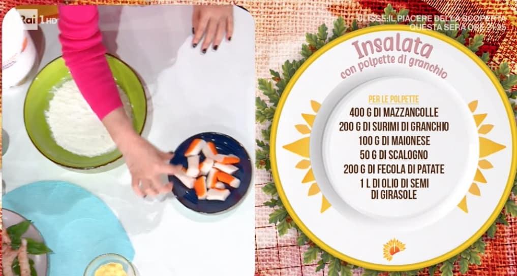 Insalata con polpette di granchio, la ricetta di Francesca Marsetti col surimi