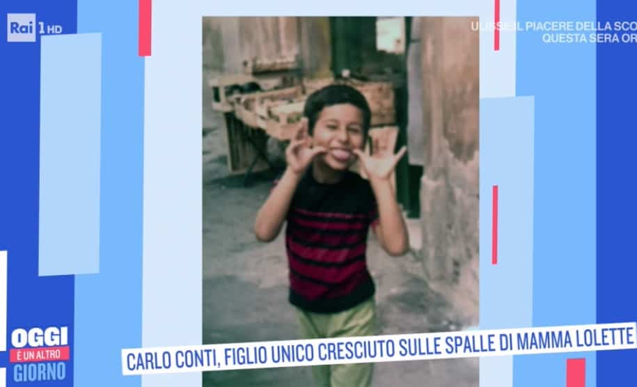 Carlo Conti, le foto da bambino: è così simile a suo figlio Matteo
