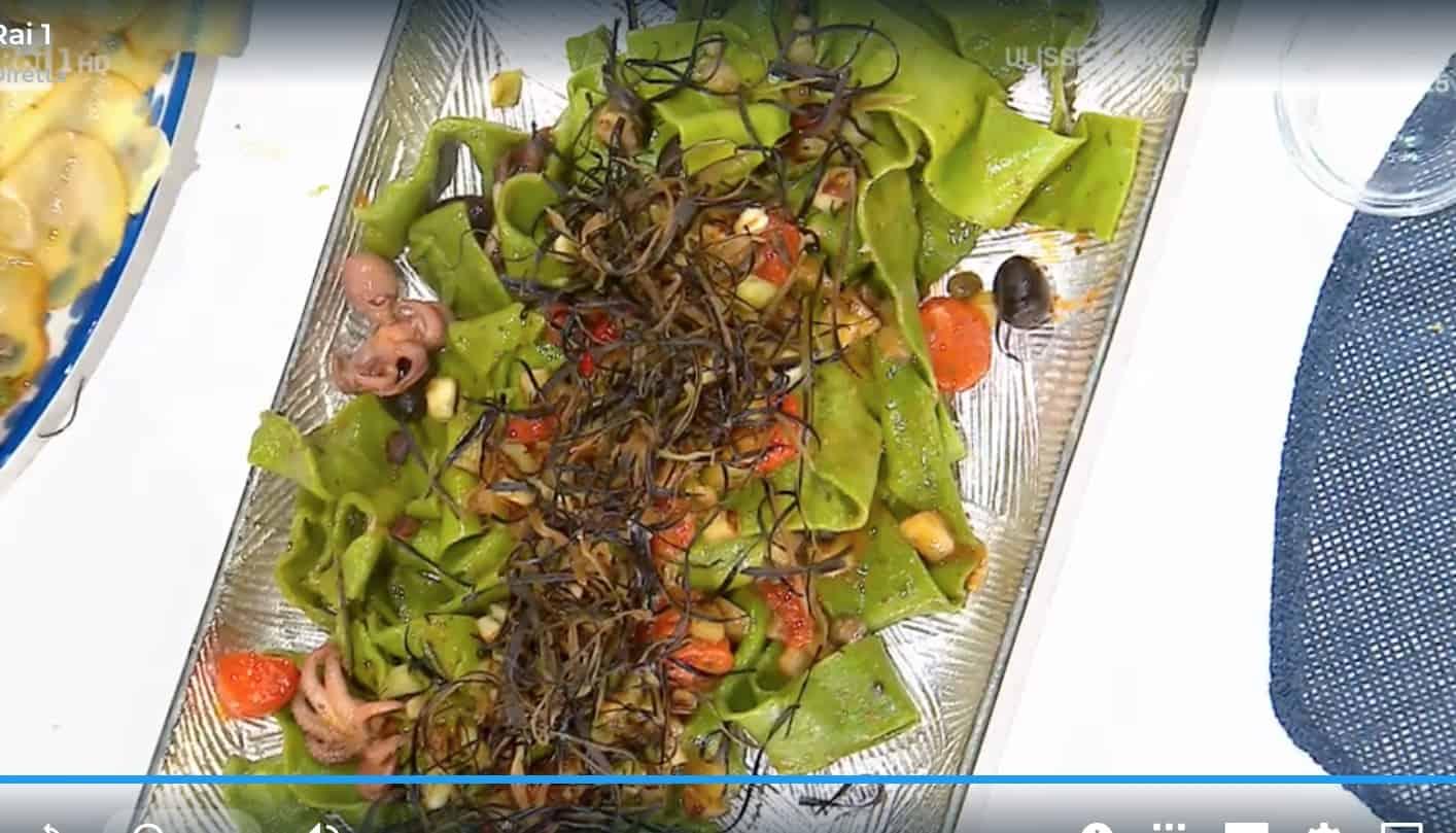 Pappardelle ortiche e moscardini, la ricetta di Mauro Improta