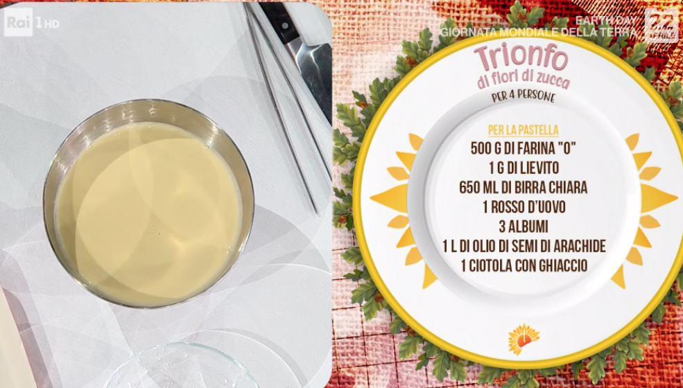 Trionfo di fiori di zucca ripieni e fritti, ricette Gian Piero Fava
