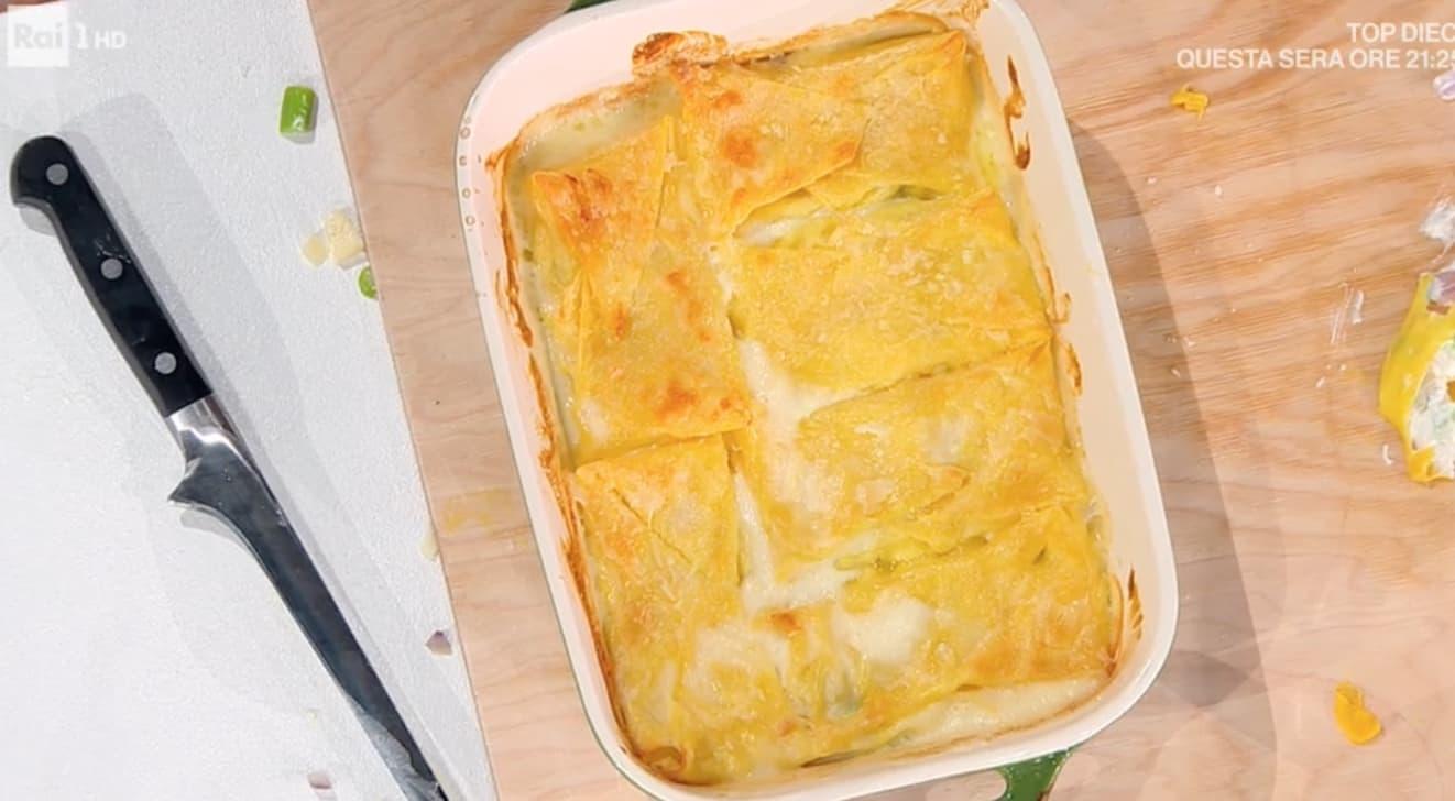 Fazzoletti di asparagi al forno, la ricetta di Carmine D'Elia