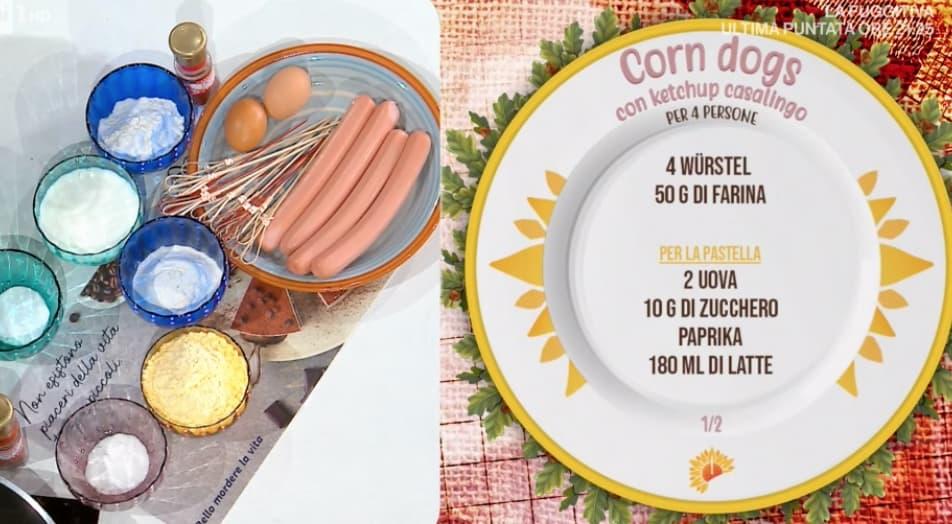 Corn dogs con ketchup fatto in casa, la ricetta di Zia Cri