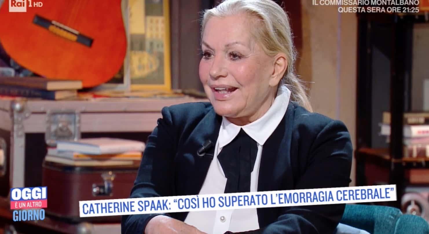 Catherine Spaak ha superato l'emorragia cerebrale, non vedeva e non camminava