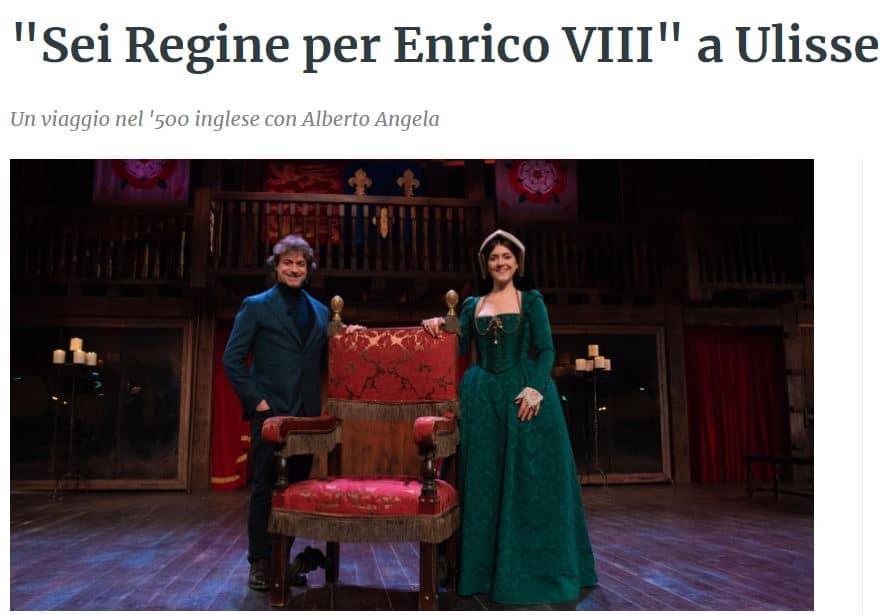 Ulisse stasera su Rai 1 con Sei regine per Enrico VIII