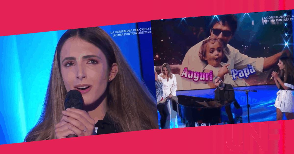 """Ginevra Nuti canta a Domenica IN per il suo papà: """"Ci capiamo con gli occhi"""""""