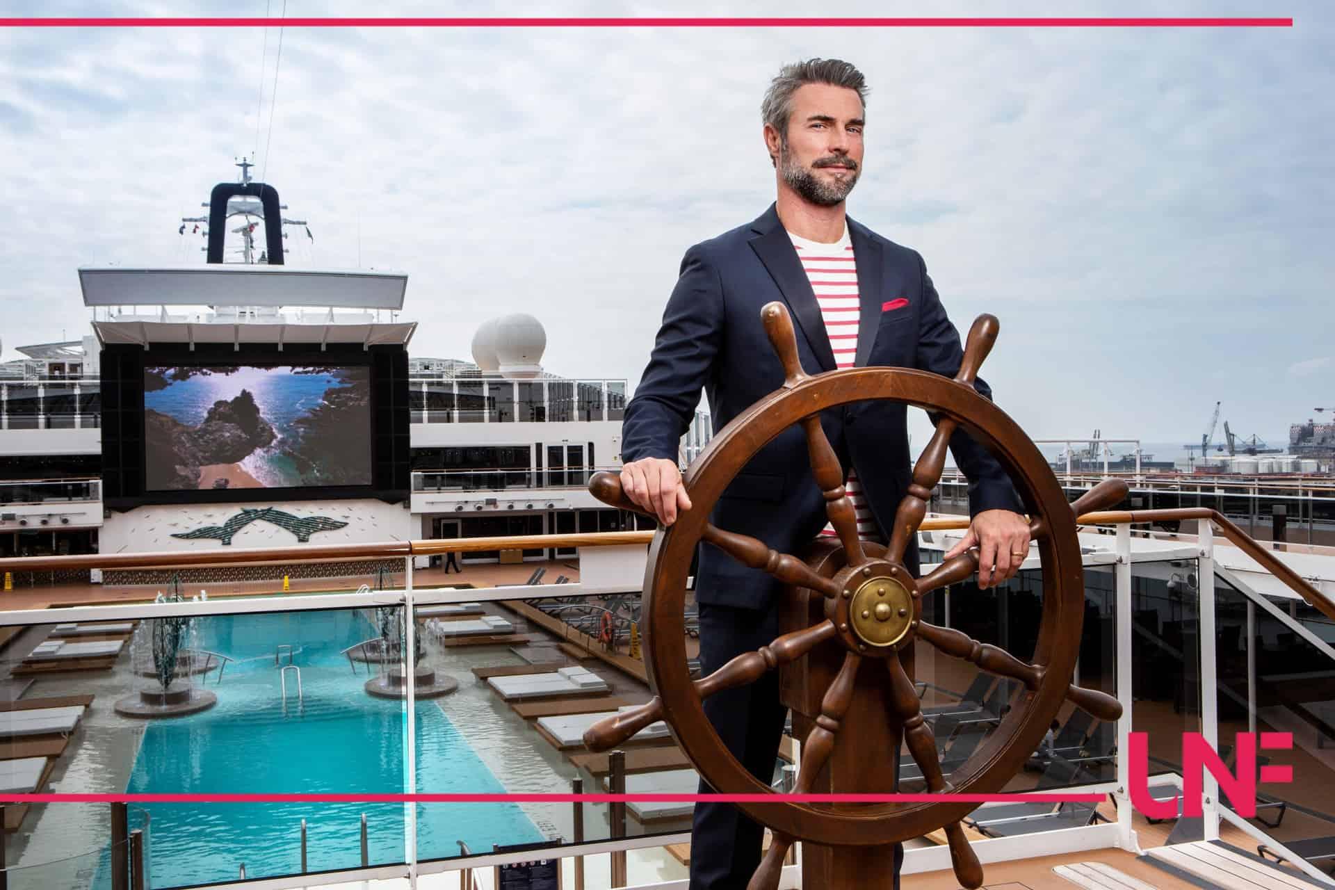 Primo appuntamento crociera: Flavio Montrucchio salpa con la nave dell'amore