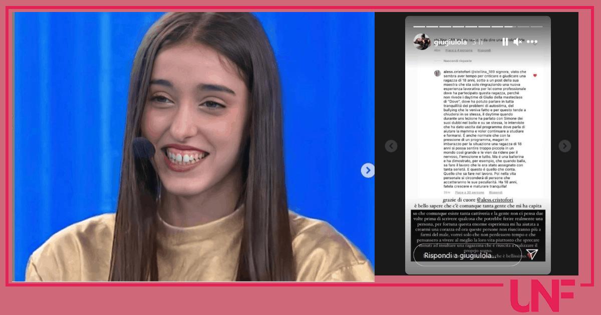 Giulia Stabile risponde a un haters sui social: l'accusa di ridere troppo