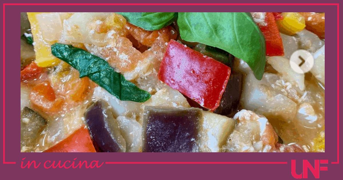 Ciambotta pugliese, la ricetta di Tessa Gelisio