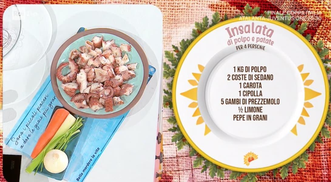 Insalata di polpo e patate, la ricetta speciale di Zia Cri