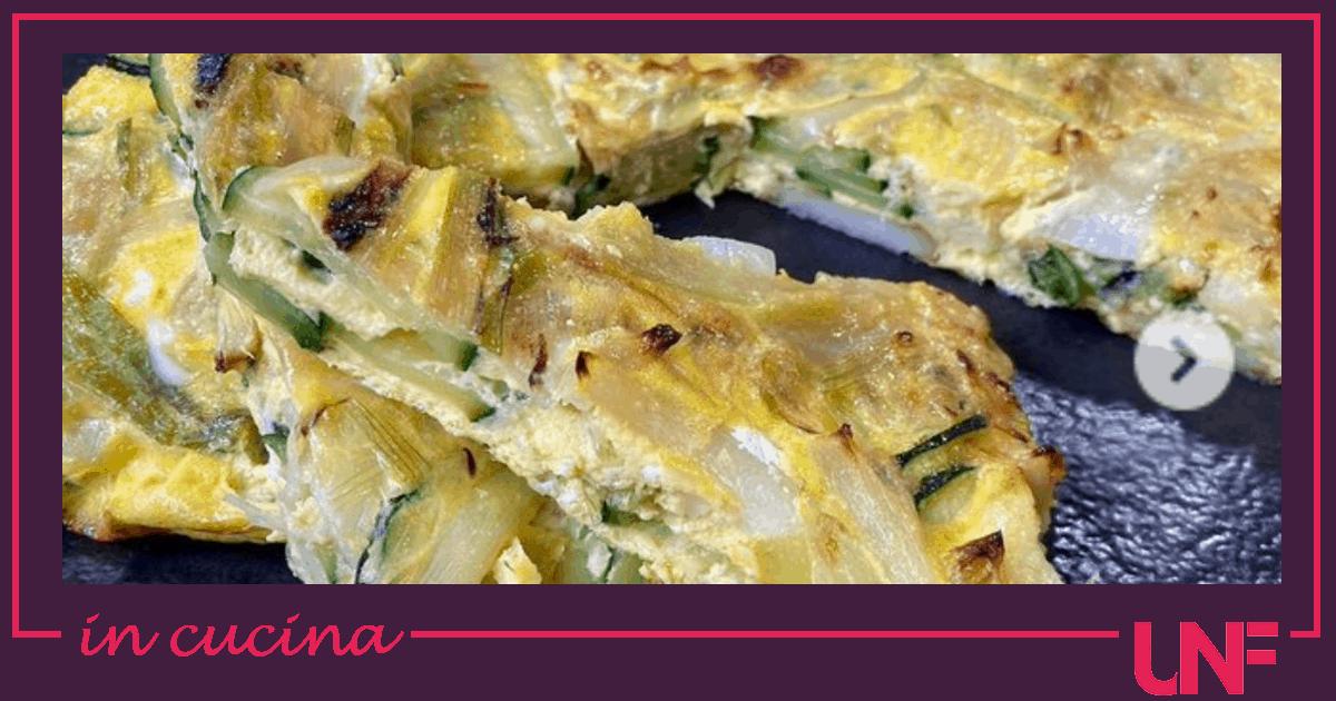 Frittata primaverile al forno, la ricetta di Tessa Gelisio