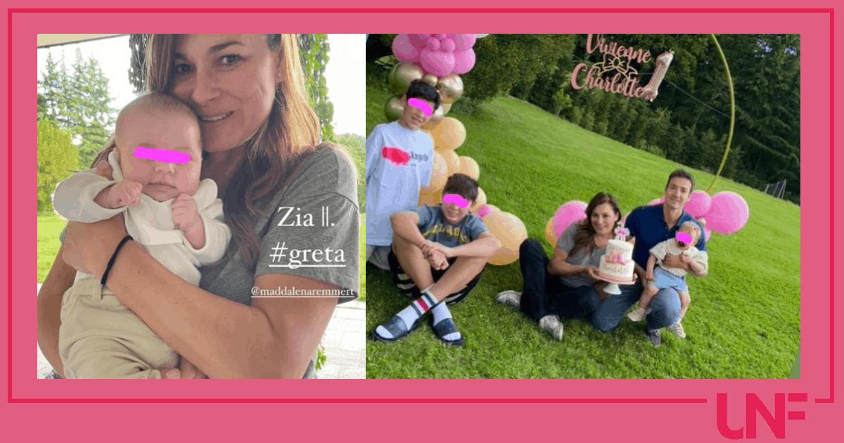 Alena Seredova festeggia in giardino il primo compleanno di Vivienne