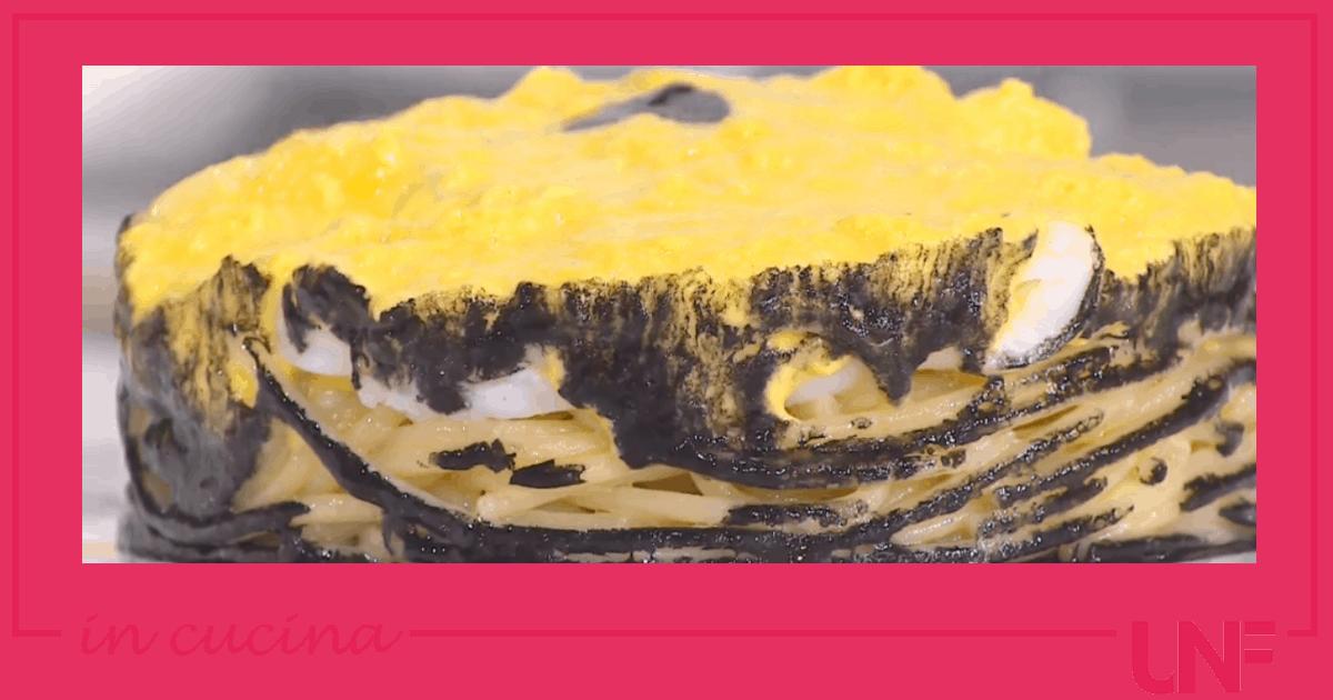 Spaghetti alla carbonara di seppie, ricetta Ivano Ricchebono