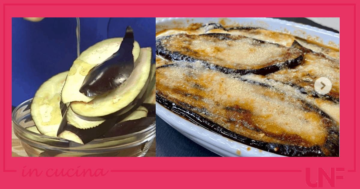 Parmigiana di melanzane leggera, la ricetta di Tessa Gelisio