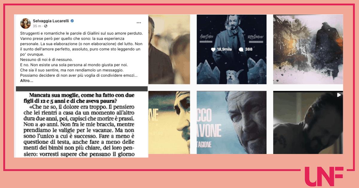 Selvaggia Lucarelli puntualizza sul dolore di Marco Giallini per la moglie