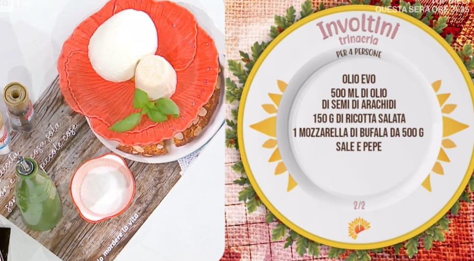 Involtini trinacria, la ricetta melanzane e spaghetti di Fabio Potenzano