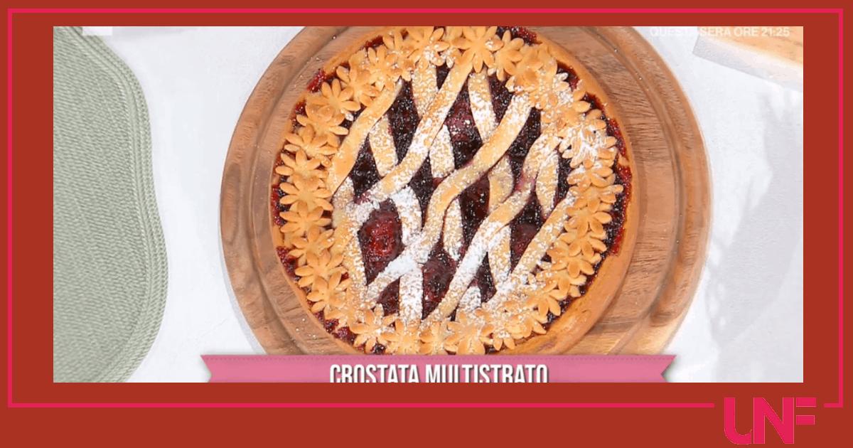 Crostata multistrato, la ricetta di Natalia Cattelani