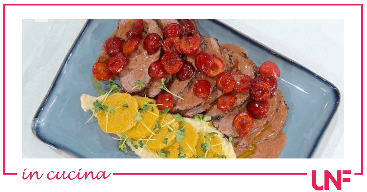 Filetto di manzo alle ciliegie, la ricetta di Gian Piero Fava