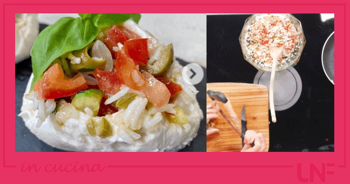 Mozzarelle farcite con riso e pomodori, la ricetta di Tessa Gelisio