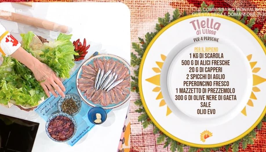 Tiella di Ulisse, la ricetta scarola e alici di Francesca Marsetti