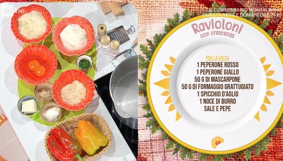 Ravioloni con crescenza, la ricetta di Daniele Persegani