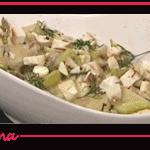 Straccetti con asparagi pancetta e ricotta, ricetta di Andrea Mainardi