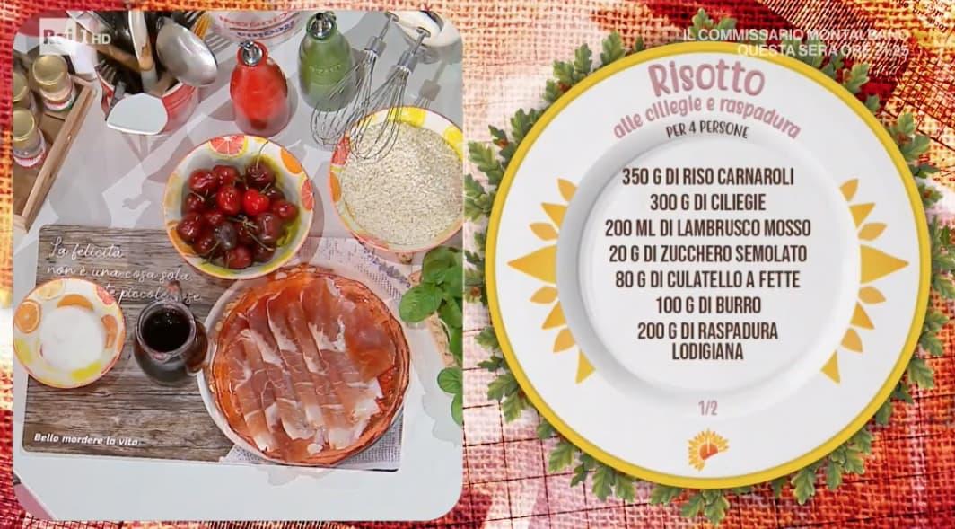 Risotto alle ciliegie e raspadura, la ricetta del ritorno di Sergio Barzetti