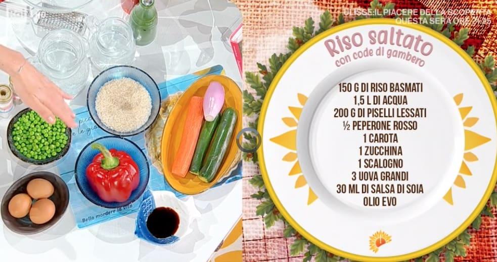 Riso saltato con code di gamberi, la ricetta di Francesca Marsetti
