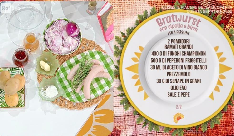 Bratwurst con cipolla e birra, la ricetta di Barbara De Nigris