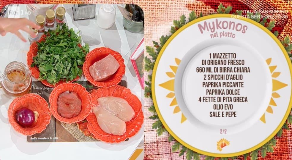 Mikons nel piatto, la ricetta greca di Daniele Persegani