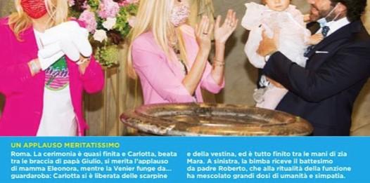 Eleonora Daniele mostra tutte le foto del battesimo di Carlotta