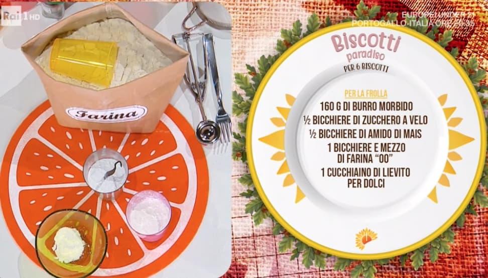 Biscotti paradiso, la ricetta di Sara Brancaccio