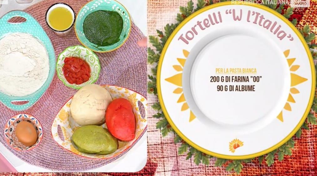 Tortelli colorati per l'Italia, la ricetta di Daniele Persegani