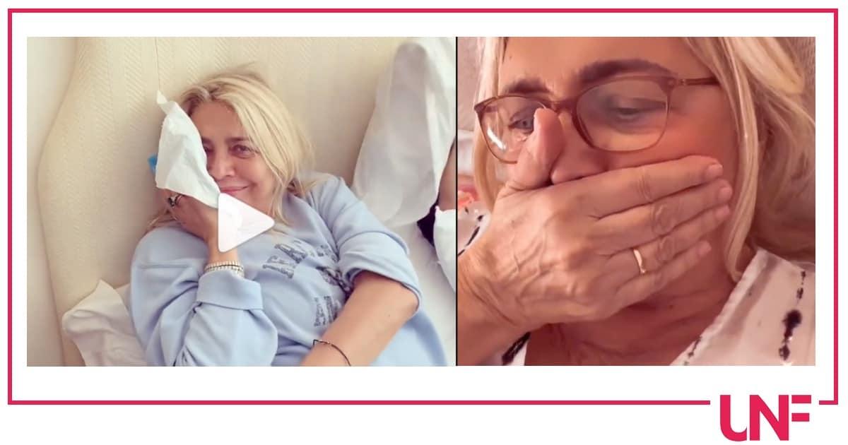 Operazione di 7 ore per Mara Venier che riposa ma non troppo col suo nipotino (Video)