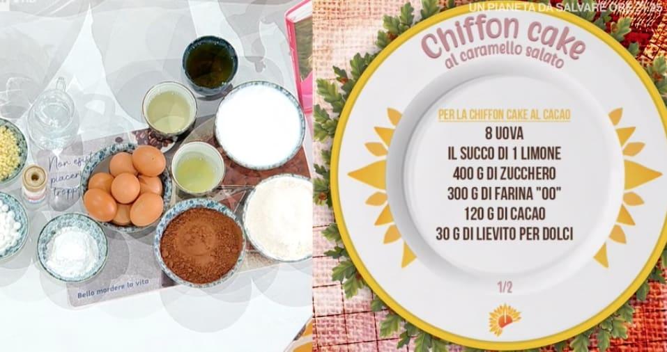 Chiffon cake al caramello salato, la ricetta di Zia Cri