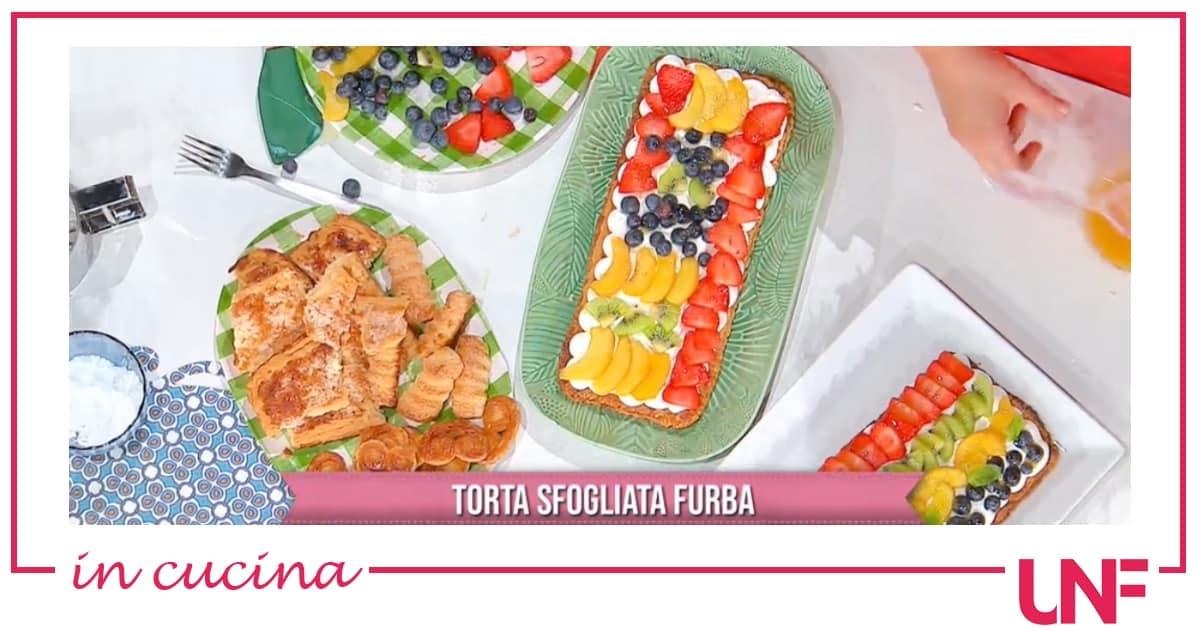 Torta sfogliata furba, la ricetta della pasta sfoglia di Natalia Cattelani