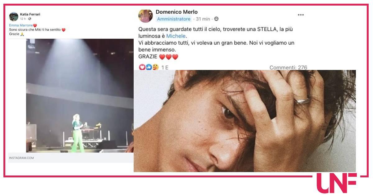 """L'addio del papà di Michele Merlo: """"Guardate al cielo è la stella più luminosa"""""""