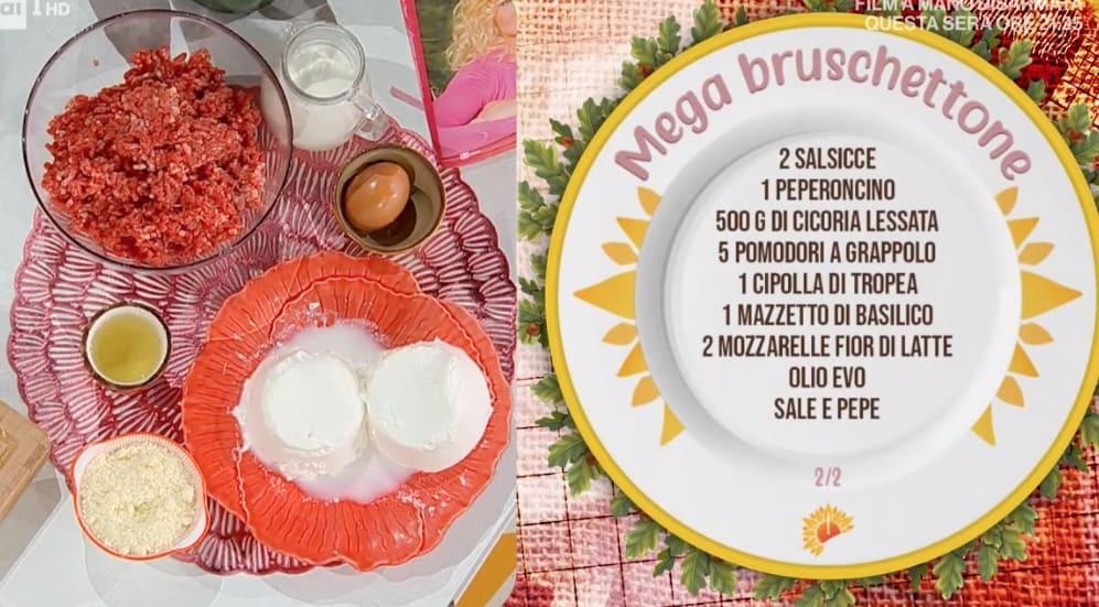 Simone Buzzi, la ricetta del mega bruschettone