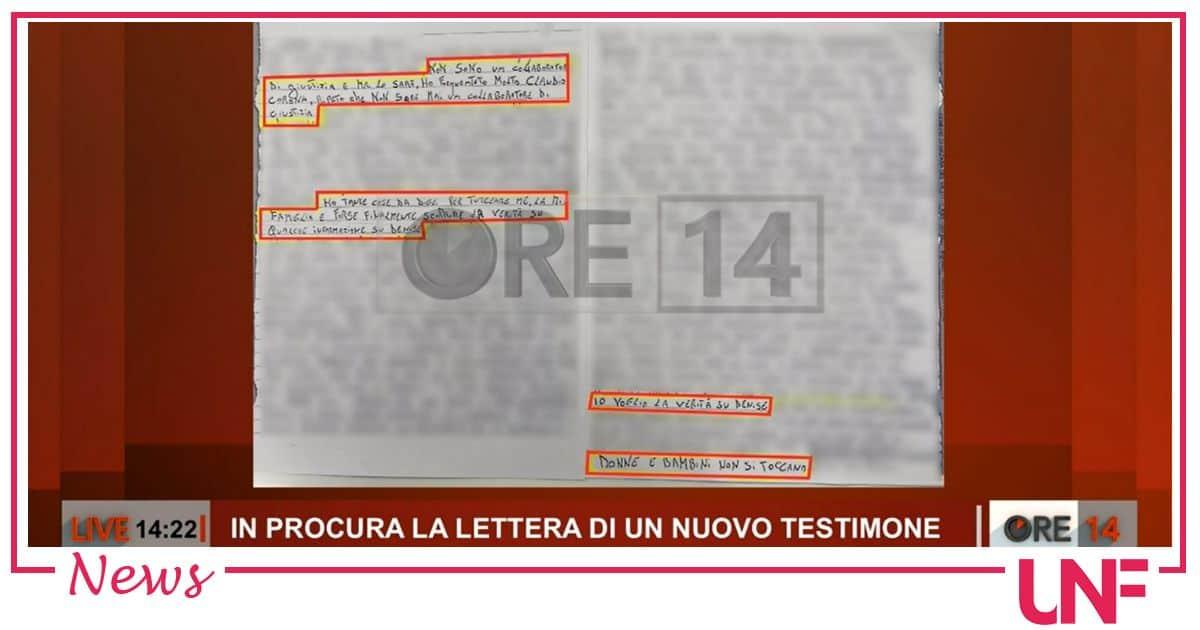 Una nuova lettera sul caso Denise Pipitone: torna il nome di Claudio Corona