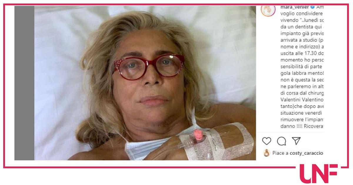 """Mara Venier in ospedale: """"Ricoverata, sala operatoria, un incubo"""""""