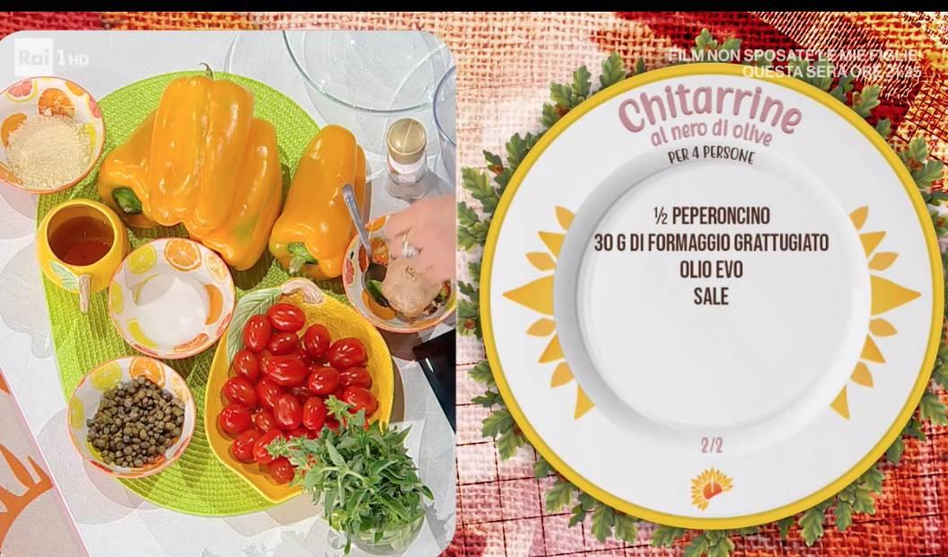 Chitarrine al nero di olive, la ricetta di Antonella Ricci