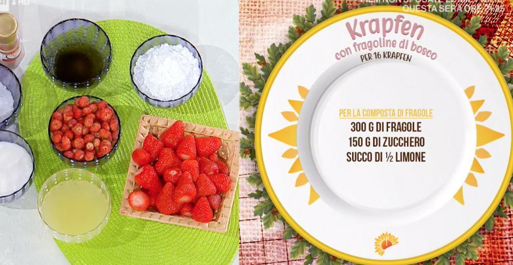 Krapfen con fragoline di bosco, la ricetta di Barbara De Nigris