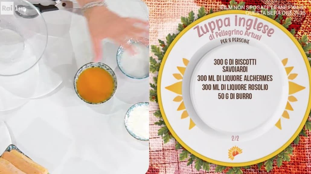 Zuppa inglese preparata da Zia Cri, la ricetta di Pellegrino Artusi