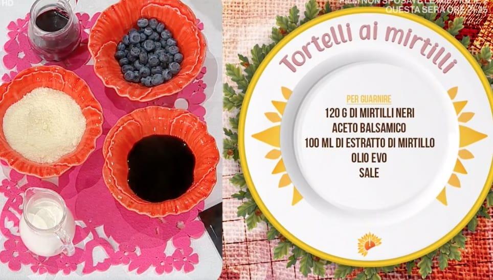 Tortelli ai mirtilli, la ricetta di Francesca Marsetti